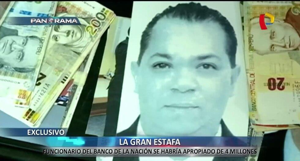 El presunto ladrón de los S/4 millones del Banco de la Nación se llama Iván Castillo Rosales.(Captura: Panorama)