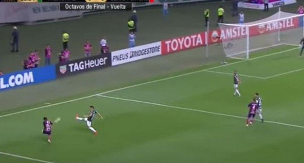 Así fue el golazo de Arzamendia a Palmeiras por la Copa Libertadores 2018. (Fox Sport)