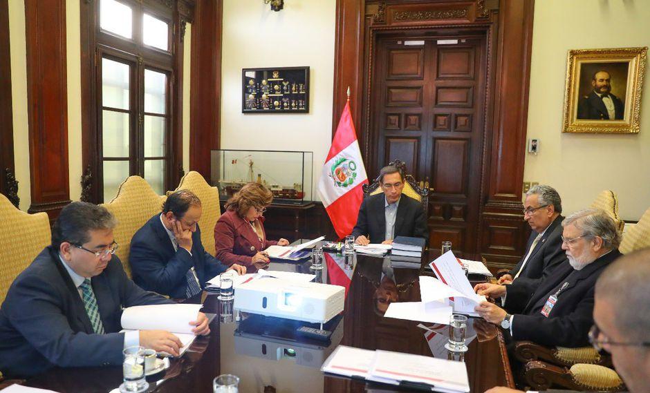 Martín Vizcarra presidió reunión del Consejo para la Reforma del Sistema de Justicia