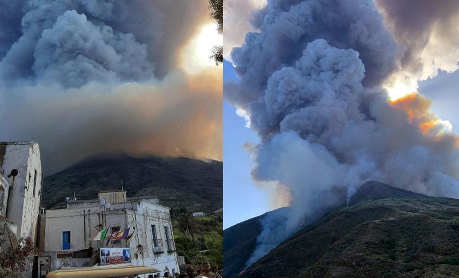 Violenta explosión del volcán Stromboli en Italia deja un muerto y un herido | FOTOS