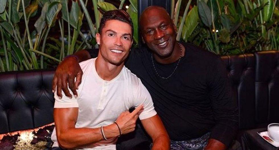 Cristiano Ronaldo y Michael Jordan: el encuentro de dos leyendas del deporte mundial. (Foto: Instagram @cristiano)