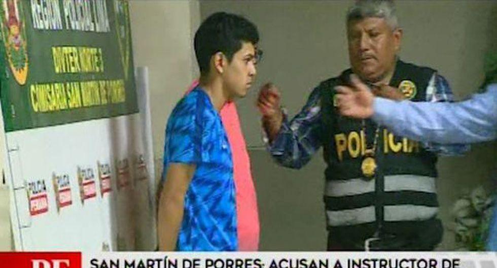 Erick Sierra Montoya de 22 años junto a su amigo José Enrique Vásquez Flores fueron detenidos por la PNP. (América Noticias)