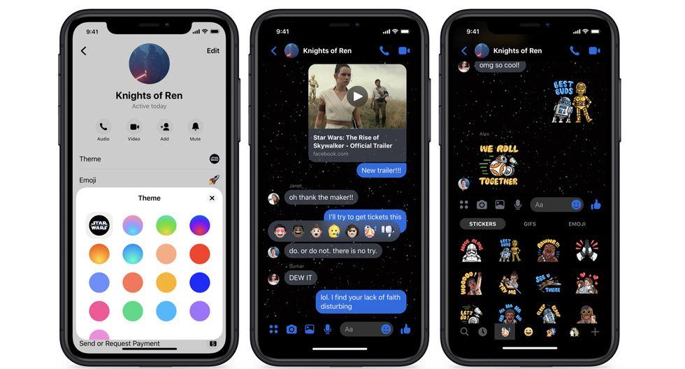 ¿Te has dado cuenta de este tema de Star Wars en Facebook Messenger? Usa este truco. (Foto: Facebook)