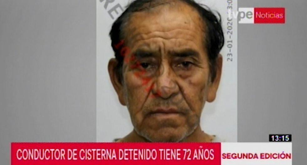 Conductor de cisterna Luis Guzmán Palomino de 72 años se encuentra internado en una clínica de Villa El Salvador. (Captura: TVPerú)
