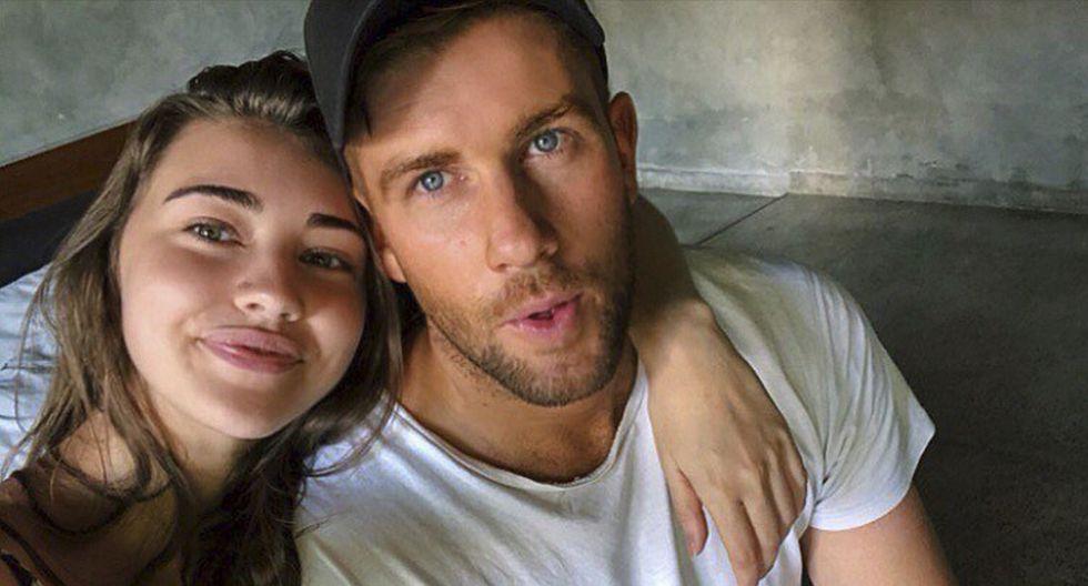 Erin Langmaid, de 23 años, nunca supo que estuvo embarazada. Su historia es viral en Facebook. (erinlangmaid)