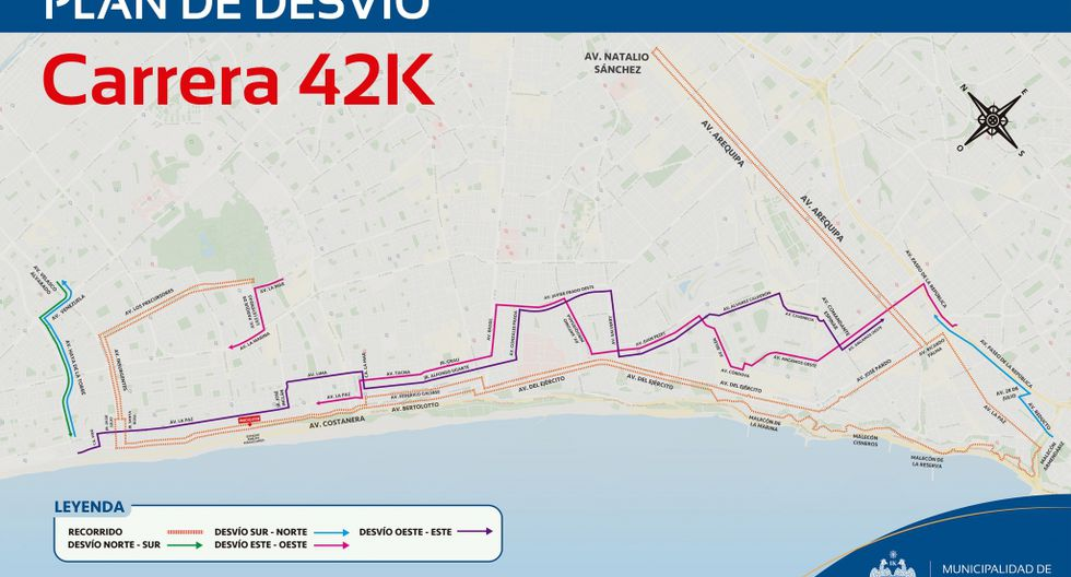 Este domingo 12 de enero se ejecutará la carrera de 42, 21 y 10 kilómetros que se desarrollará en algunas calles de los distritos San Miguel Magdalena del Mar y Miraflores. (Foto: MML)