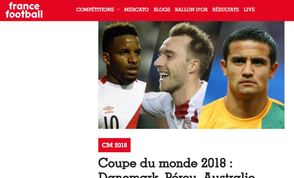 El gol de Jefferson Farfán llegó a los 87 minutos. (Captura: France Football)