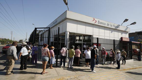 El Banco de la Nación informó que los clientes con cuentas bancarias ya recibieron el depósito del bono de S/ 380. (Foto: Leandro Britto / GEC)