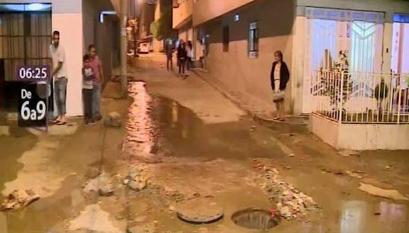 Aniego se reportó en el jirón Montevideo de la Asociación Los Olivos(Captura: Canal N)