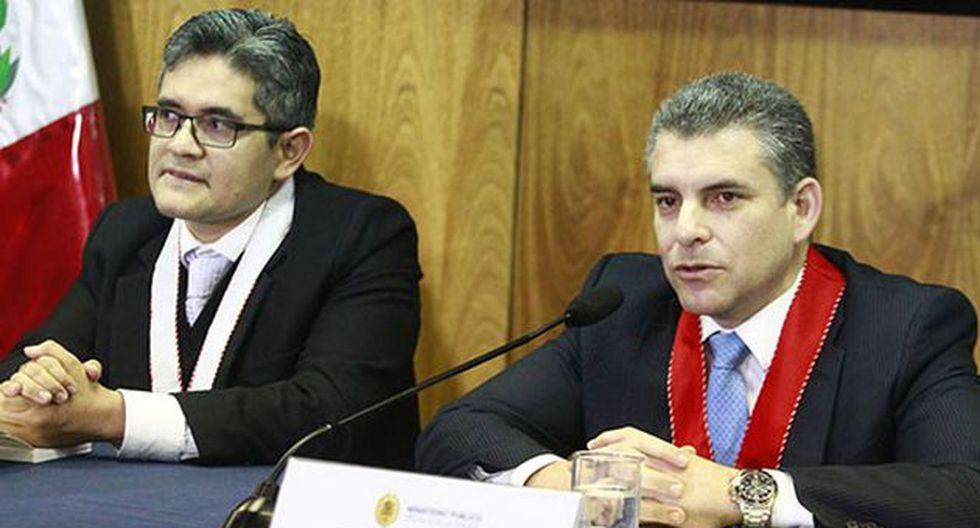José Domingo Pérez y Rafael Vela recibieron el respaldo de sus pares desde Brasil. (Foto: Agencia Andina)