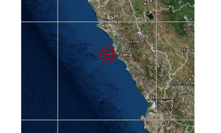 De acuerdo con el IGP, el epicentro de este movimiento telúrico se ubicó a 20 km. al oeste de Callao. (Foto: IGP)