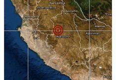 Ayacucho: sismo de magnitud 4,1 se registró en distrito Huanca Sancos