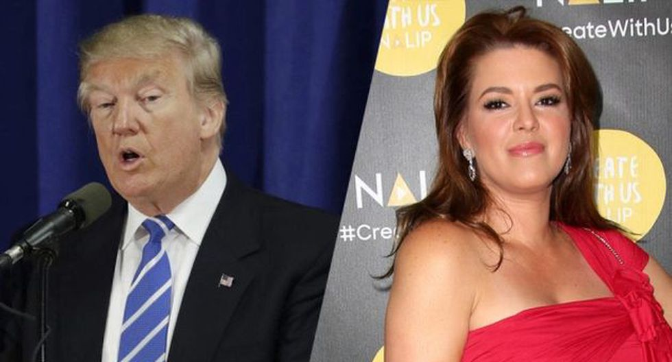 Donald Trump y Alicia Machado (AFP)