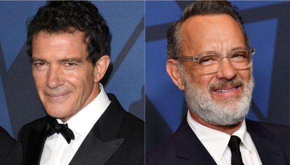 """Antonio Banderas y Tom Hanks se reencontraron a 26 años de """"Filadelfia"""". (Foto: AFP)"""