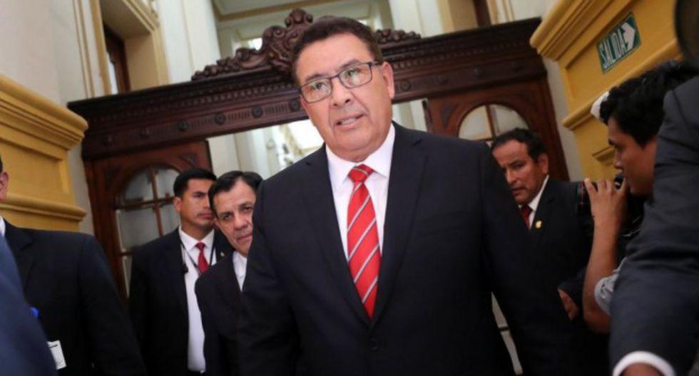 José Huerta, quien se desempeñaba como ministro de Defensa, falleció este lunes. (Foto: GEC)
