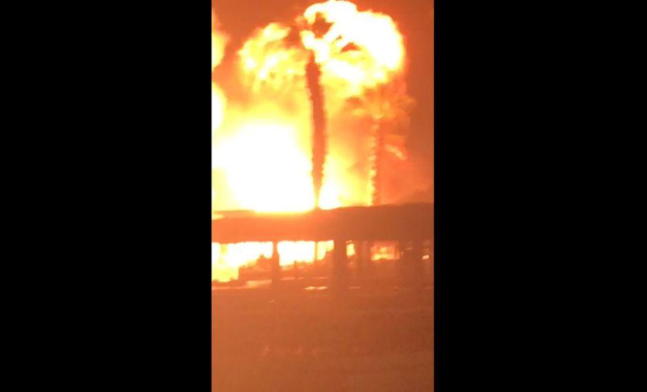 Incendio en club Las Palmas en Asia. (Foto: Captura)