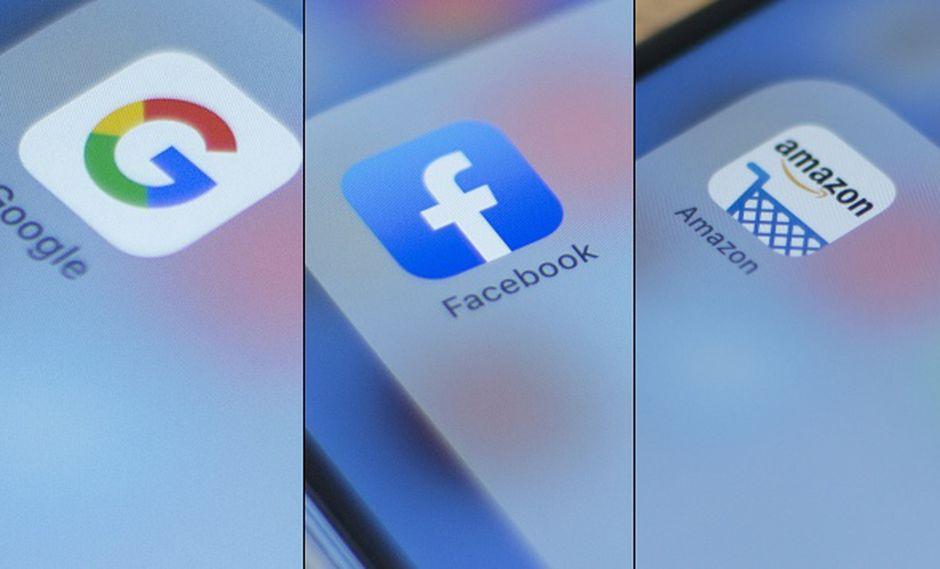 Comunicado del Departamento de Justicia no menciona compañías específicas pero pareció referirse a Facebook, Google y Amazon, que dominan áreas fundamentales de la economía digital. (Foto: AFP)