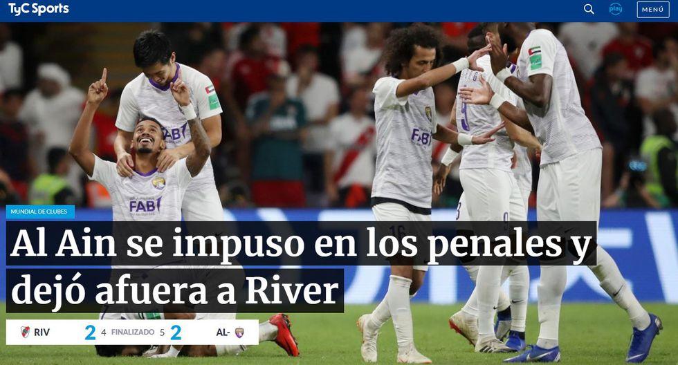 TyC Sports de Argentina y su reacción tras eliminación de River Plate.