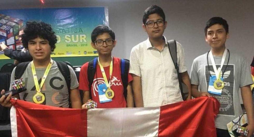 Peruanos ganaron el oro en matemáticas.
