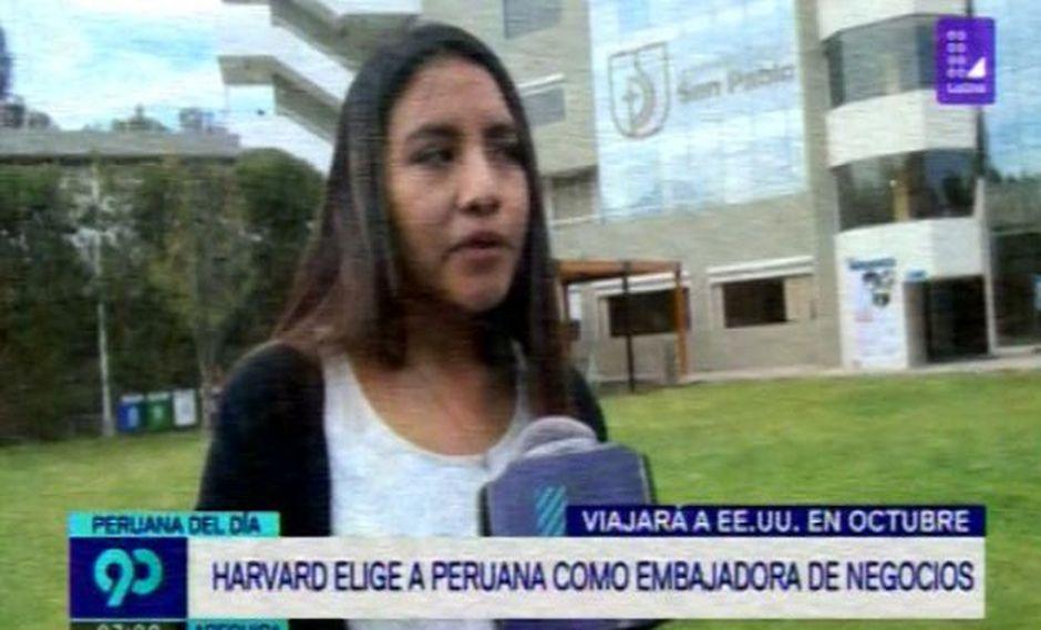 Universitaria peruana será reconocida como embajadora de negocios en Harvard