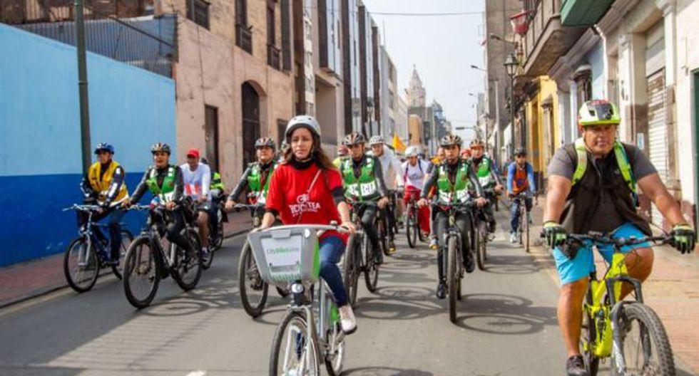 Los ciclistas irán acompañados de los miembros del serenazgo de Lima y la Policía Nacional para garantizar la seguridad. (MML)