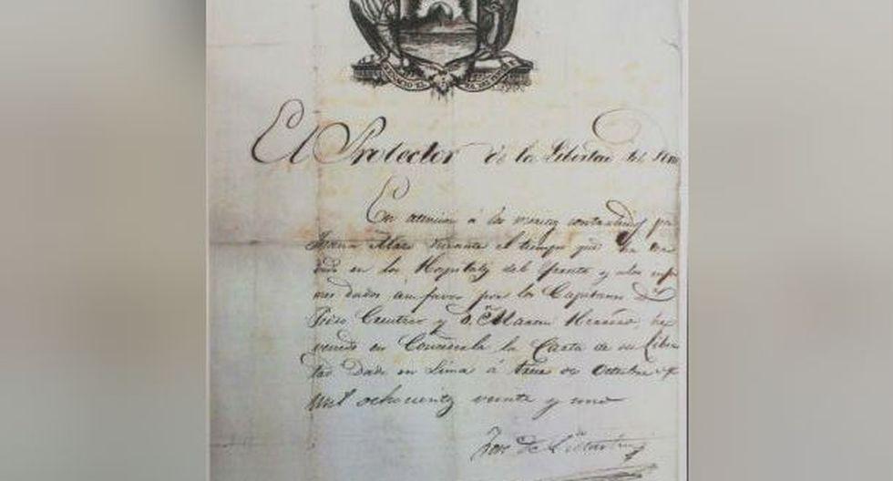 Copia de manuscrito que desapareció. (Foto: Rolly Reyna)