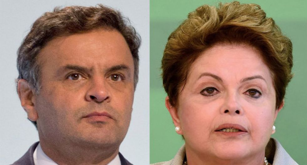 Aécio Neves y Dilma Rousseff. (Foto: AFP)