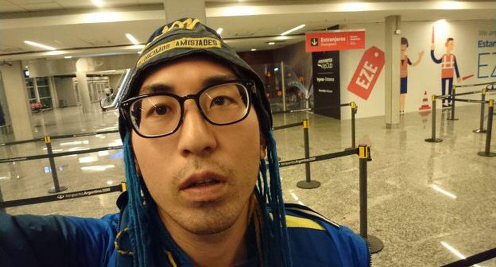 La historia del hincha que viajó de Japón y se quedó sin ver la Copa Libertadores. (Foto: @IsamiLito)