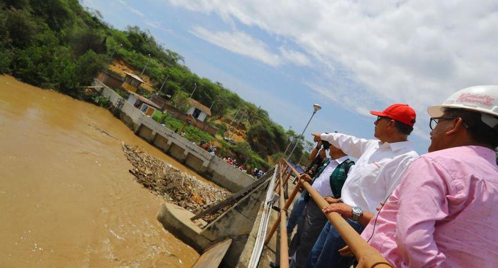 El mandatario llegó junto al gobernador regional Wilmer Dios Benites. (Foto: @presidenciaperu/Twitter)