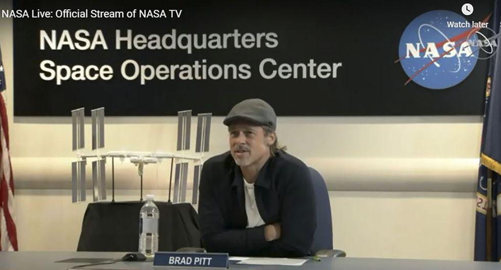 El actor llegó hasta la sede de la NASA, en Washington, para mantener una conversación con el astronauta Nick Hague (Foto:AFP)