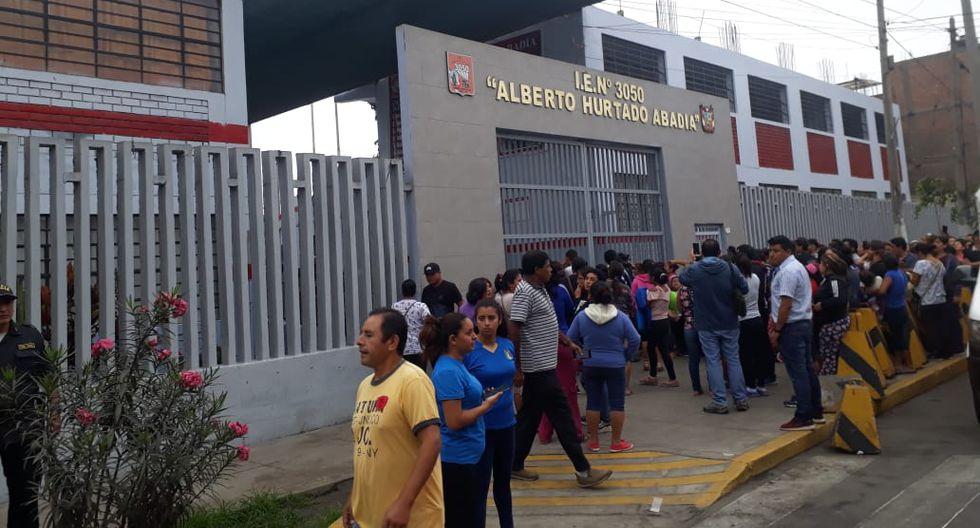 La emergencia ocurrió en el colegioAlberto Hurtado (Fotos: Giancarlo Ávila)