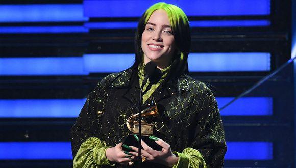 """Grammy 2020: Billie Eilish ganó en la categoría Canción del año por """"Bad Guy"""". (Foto: AFP)"""