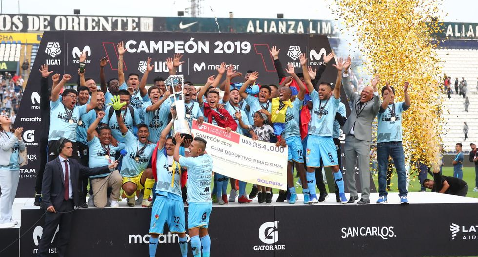 Binacional celebró su primer título nacional de la Liga 1 | Foto: Giancarlo Avila / GEC