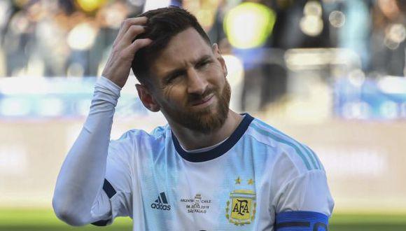 Lionel Messi fue expulsado en el duelo por el tercer lugar de la Copa América ante Chile. (Foto: AFP)