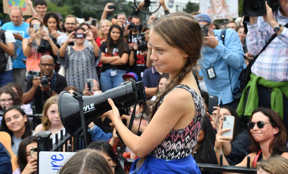 Greta Thunberg (Photo by Nicholas Kamm / AFP)