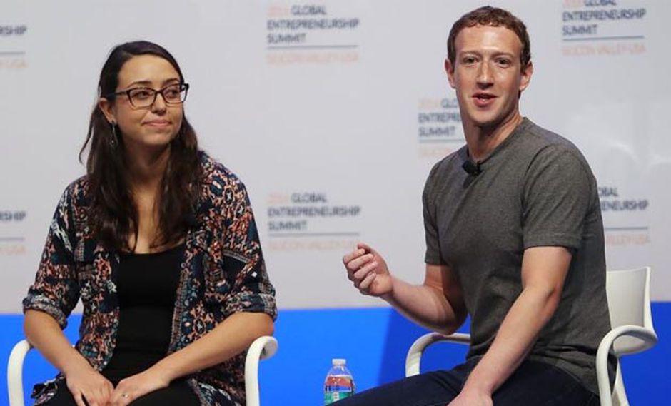 Mariana Costa y Mark Zuckerberg. (Foto: AFP)