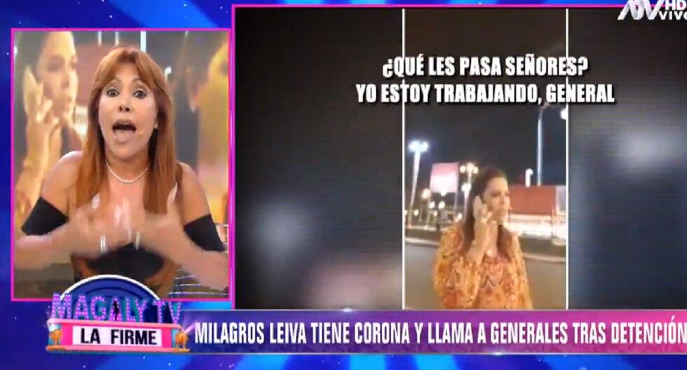 Magaly Medina se refiere al caso de Milagros Leiva. (Foto: Captura ATV)