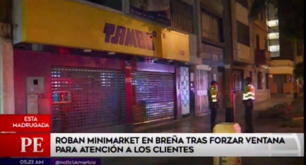 Delincuentes se llevaron dinero y productos golosinarios. (Foto captura: América Noticias)