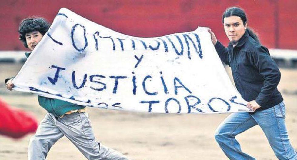 Cuatro manifestantes fueron detenidos por perturbar la tranquilidad pública. (Foto: AFP)