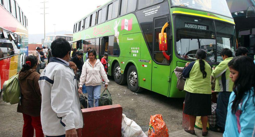 Viajes en bus con descuento por fin de año. (Foto Andina)