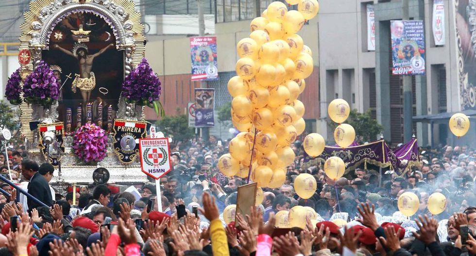 Municipalidad de Lima informó que desplegará a 1.600 miembros del serenazgo durante los recorridos procesionales. (Foto: Andina)