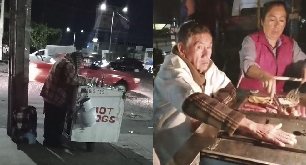 Don Abel no vendía un hot dog así que usaron las redes sociales para apoyarlo. (Facebook)