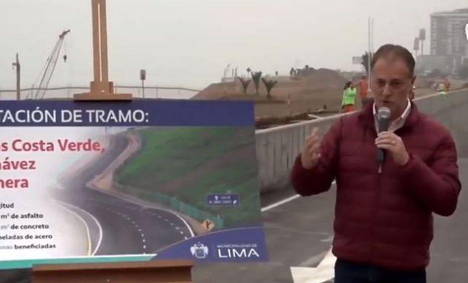 Jorge Muñoz entregó tramo habilitado del proyecto de la Costa Verde hacia el Callao
