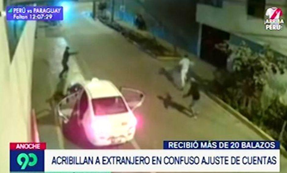 Cámaras captaron crimen de hombre en presunto ajuste de cuentas | VIDEO