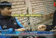 Sujetos venden a través de Facebook falsos SOAT a motociclistas para evadir controles de la Policía