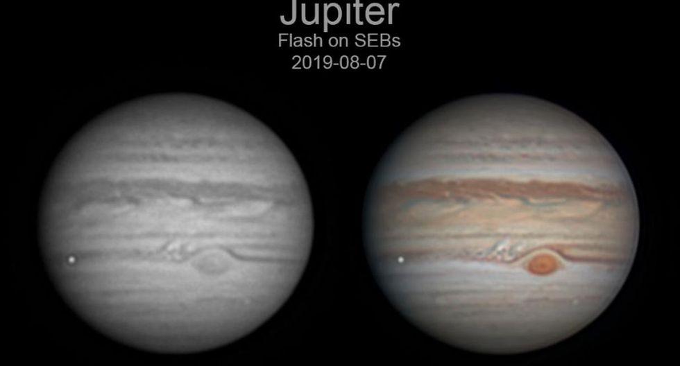 """Ethan Chappel difunde diversas imágenes de Júpiter en su página web """"Chappel Astro"""" desde el año 2013.  (Foto: Twitter - ChappelAstro)"""