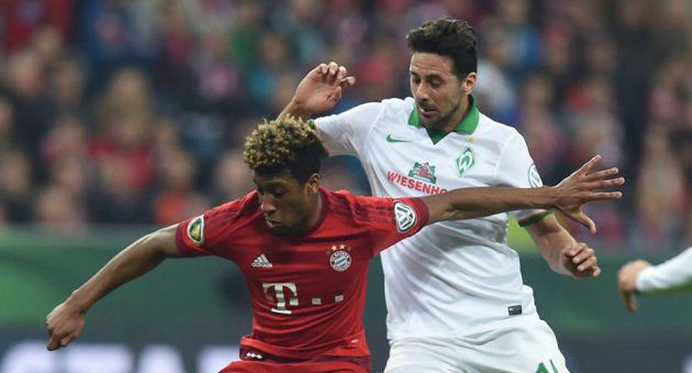 Claudio Pizarro es parte de la historia de Werder Bremen y Bayern Múnich en la Copa de Alemania. (Foto: AFP)