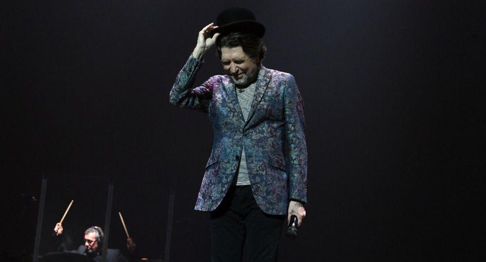 Joaquín Sabina sufrió una fuerte caída durante un show en Madrid. (Foto: AFP)