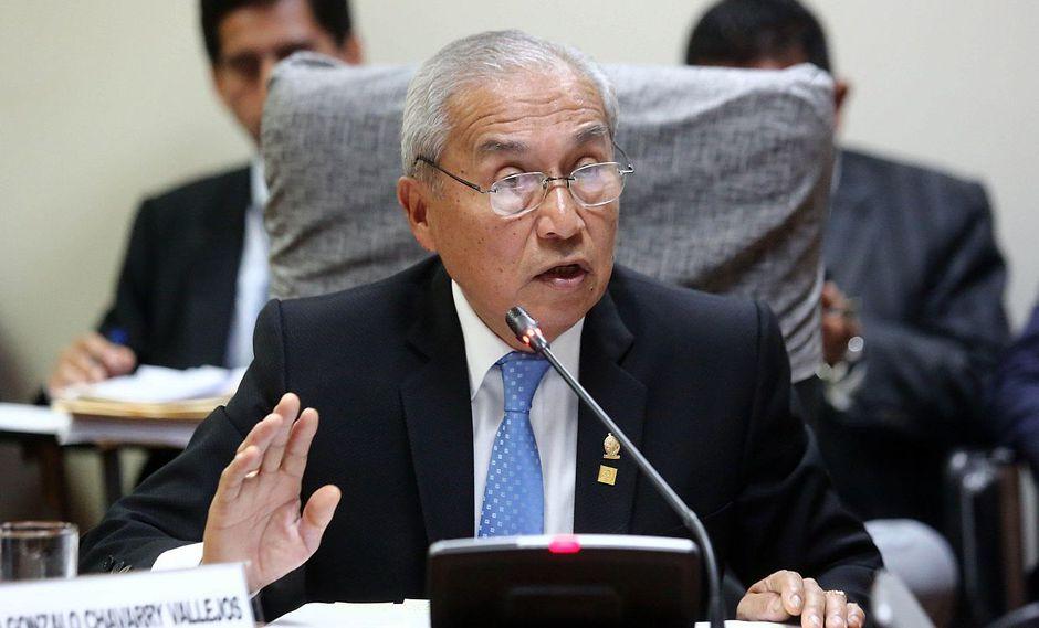 El ex fiscal de la Nación, Pedro Chávarry, presentó una recusación contra Walter Ayala, presidente de Ética del CAL. (Foto: GEC)