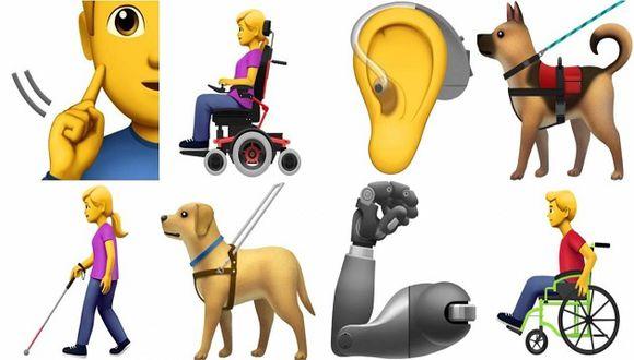 Emojis sobre personas con discapacidad (Foto: Apple)